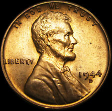 1944-D/D Lincoln Cent Penny ----- GEM BU++ Red Condition Original  -----  #Z523
