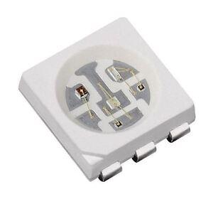 10 x Orange 5050 PLCC-6 SMD / SMT LED
