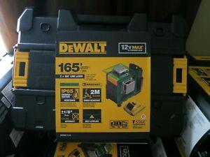 DeWalt DW0811LG 12V MAX 2 x 360 Rechargeable Li-Ion Green Line Laser, 165' Range