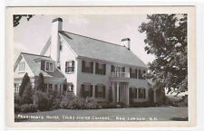 President's House Colby Junior College New London New Hampshire RPPC postcard
