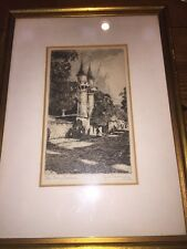 """Original Signed Etching """"The Twin Towers"""" George Morrison Noted Artist"""