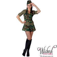 private tease sexy army lady fancy dress womans halloween costume REDUCED clear
