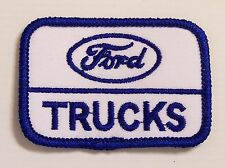 RARE VINTAGE FORD TRUCKS EMBROIDERED PATCH 50x73mm WOVEN CLOTH BADGE SEW-ON NOS