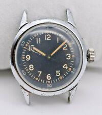 1942 WW2 Navy Pilots Hacking Watch A-11, Black, WALTHAM FSSC 88-W-800 (P/R)