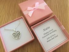 SWEET SIXTEEN, sixteenth, 16th, necklace, BIRTHDAY GIFT, PERSONALISED