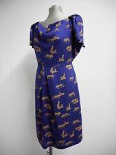 Hermoso Vestido nuevo con etiquetas Great Plains púrpura con Lindo Estampado De Leopardo XL UK16