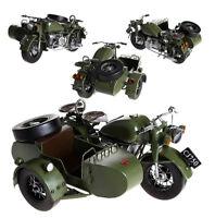 Hand Made Tin Metal Ural Motorcycle Model M72 R71 Passenger Car Antiqued Decorat
