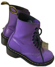 Dr Martens Clemency Leather Casual Ankle Lace-Up Heels Boots Purple UK 3 US 5