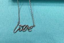 Tiffany & Co. Silver Paloma Picasso Graffiti LOVE Script Pendant Necklace