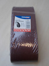 TOOLPAK 80 GRIT  CLOTH SANDING BELTS 100 X 610MM PACK OF 5. FREE POSTAGE