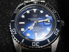 "New! 101 HYAKUICHI DIVERS ""AUTOMATIC"" Watch CITIZEN Movement Deep Blue Japan"