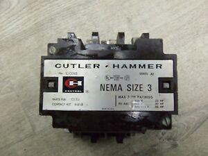 NICE CUTLER-HAMMER SIZE 3 CONTACTOR C10EN3 208VCOIL 3PH 600V 50HP