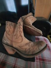 LIBERTY Black Western/Cowgirl Stivali in Pelle Naturale 8US
