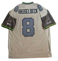 Reebok 8 Hasselbeck Sea Hawks Gray Football Jersey Men's Size Large L
