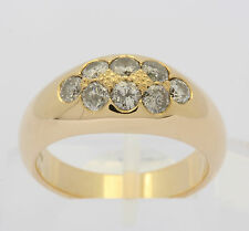 Brillant Ring in aus 14kt Gelb Gold mit Brilliant Diamant Brillanten Diamantring