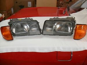 Mercedes Euro Headlight Assemblies 126 300SD 500SEL 300SE 300SEL 280SE 380SEL