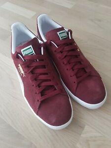 Puma Suede Classic Men Shoes Sneakers Burgundy