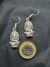Tibetan Silver Beautiful Design Indian Elephant Ganesh Ganesha Earrings