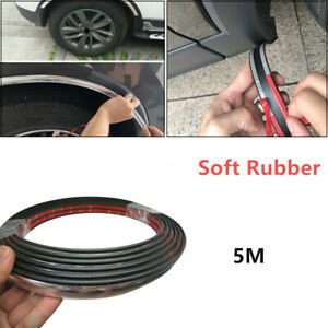 5M  Soft Rubber Car Wheel Rubber Eyebrow Protector Lip Arch Trim Fender Strip
