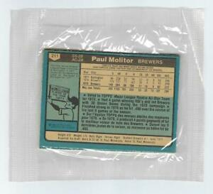 1980 HUNTS BREAD PACK OPC UNOPENED W/ PAUL MOLITOR ON BACK BREWERS O-PEE-CHEE