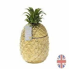 More details for gold  retro pineapple ice bucket with lid, premium addition to drinks trolley uk