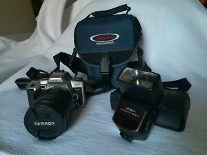 Minolta Dynax 505si Spiegelreflex Camera analog mit Objektiv, Blitz und Tasche