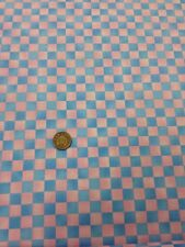 100% Acolchado de Algodón Manualidades Telas Rosa Azul Cuadros Graphix Pincel