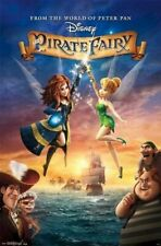 PIRATE FAIRY ~ CROSSED SWORDS 22x34 MOVIE POSTER Disney Tinker Bell Peter Pan