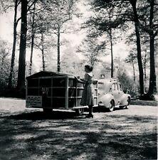 Auto c. 1950 - RENAULT 4 CV Remorque-Caravane - Div 12206