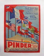 AFFICHE ORIGINALE BOXE BOXING CIRQUE CIRCUS POSTER PINDER THIL GERMAN FLAG 1938