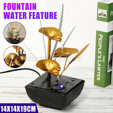 Waterfall Water Fountain Feng Shui Effect Indoor Table Desk Feature LED Light