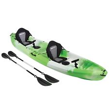 Sit On Top KAYAK 2+1 Family Ocean River Sea Fishing Touring Tandem Kayaks GREEN