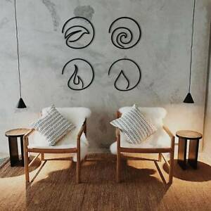Four Elements Metal Wall Art Decor Gift
