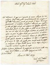 Prefilatelica del 1839 con timbro Faenza al nobiluomo Luigi Bertazzoli di Lugo