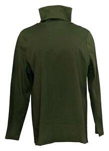 Isaac Mizrahi Live! Women's Sz XL Pima Cotton Turtleneck Green A296830