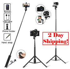 "Wireless Selfie Stick 54"" withTripod Wireless Bluetooth Compatible iPhone/Galaxy"