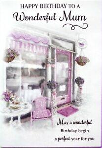 "Traditional Classic Cake Shop ""WONDERFUL MUM"" Birthday Card"