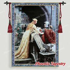 """The Godspeed Medieval Fine Art Tapestry Wall hanging, Cotton 100%, 55""""x39"""", UK"""