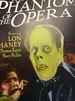 Haunted Halloween Horror Poster repro Phantom of the Opera Scary Wall Art Fright