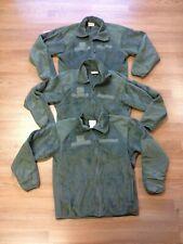 (3) US Army Gen III Medium Regular ECWCS Polartec Foliage Green Fleece Jackets