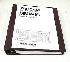 Tascam MMP-16 Owner's Manual. MN