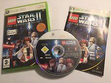 Juego Xbox 360 Lego Star Wars II de la trilogía original + Caja Instrucciones'S COMPLETO PAL