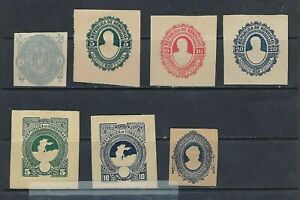 Honduras Postal Stationery Lot (Envelopes and Wrappers), 1890 to 1893
