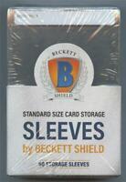 50 Pack Beckett Shield Semi Rigid Card Holders Standard Size Sleeve PSA BCCG BGS