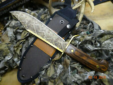 "14 1/2"" O.A. ROUGH RIDER **SIDEWINDER BOWIE KNIFE** 440 S.S. BLADE BRASS ACCENT"