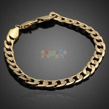 Charms Jewelry 18k Yellow Gold Filled Men/women Curb Chain Link Bracelet chain