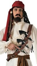 Mens Brown Pirate Shoulder Gun Holster & 3Toy Guns Fancy Dress Costume Accessory