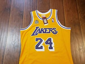 Los Angeles Lakers Kobe Bryant 60th Gold 2007  Throwback Jersey sz 48 XL