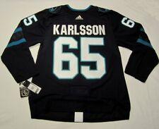 ERIK KARLSSON size 52 Large San Jose Sharks ADIDAS alt Stealth jersey PRO CUSTOM