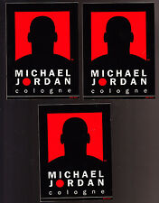 3 LOT BRAND NEW MICHAEL JORDAN COLOGNE UNUSED DECALS 3+3/4X5 INCHES